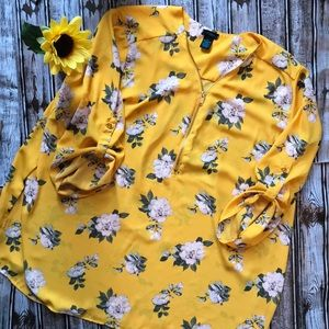 Rue+ mustard yellow blouse